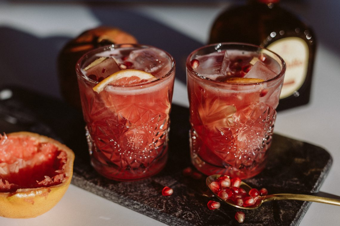 Pomegranate Ginger Paloma