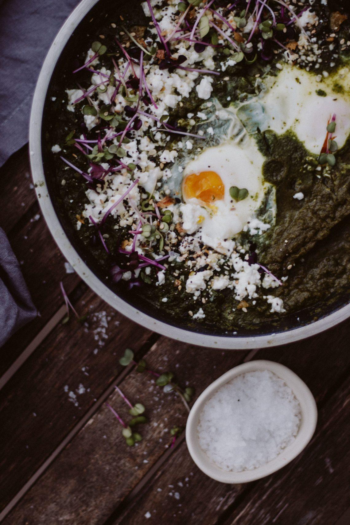 Rezept: Spinat Fetakäse Shakshuka