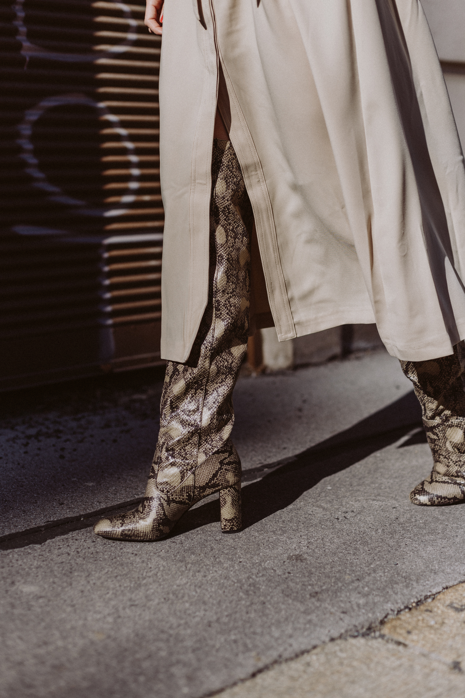 Snake Print Knee-High Boots - Love Daily Dose
