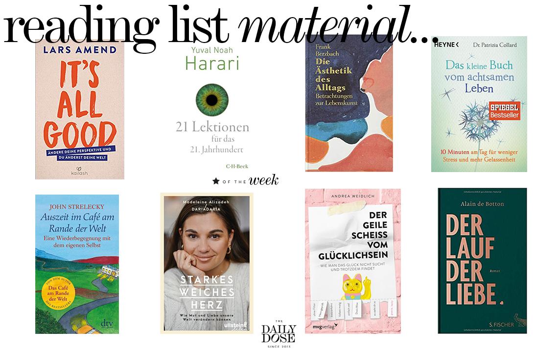 Reading List: Bücher, die zum Nachdenken anregen | Love Daily Dose