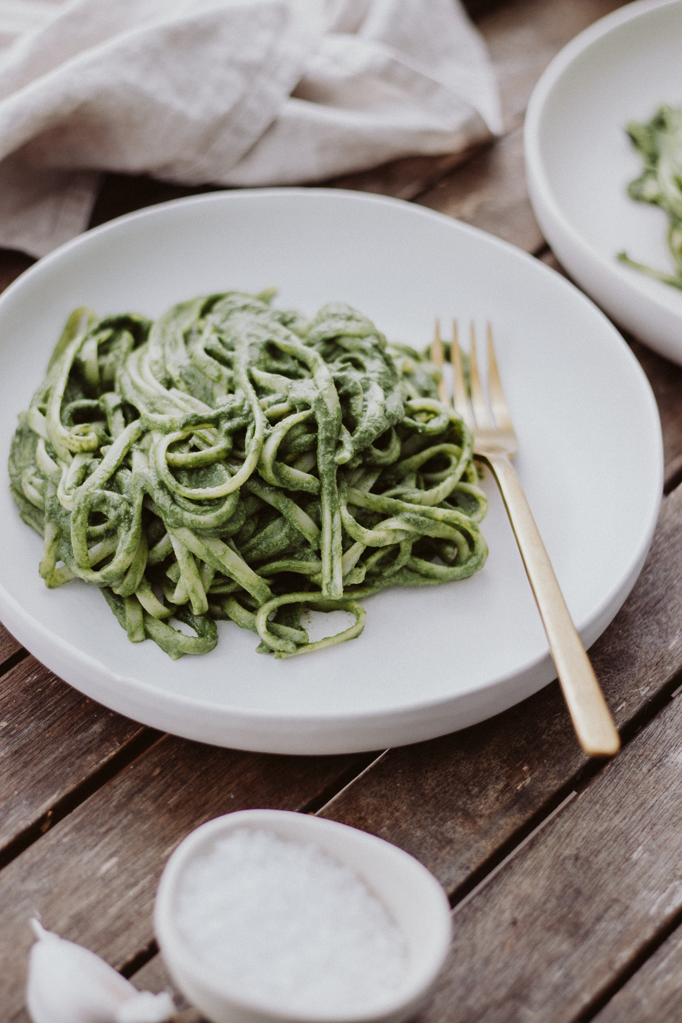 The Daily Dose vegane Spinat Pasta Cashew Parmesan