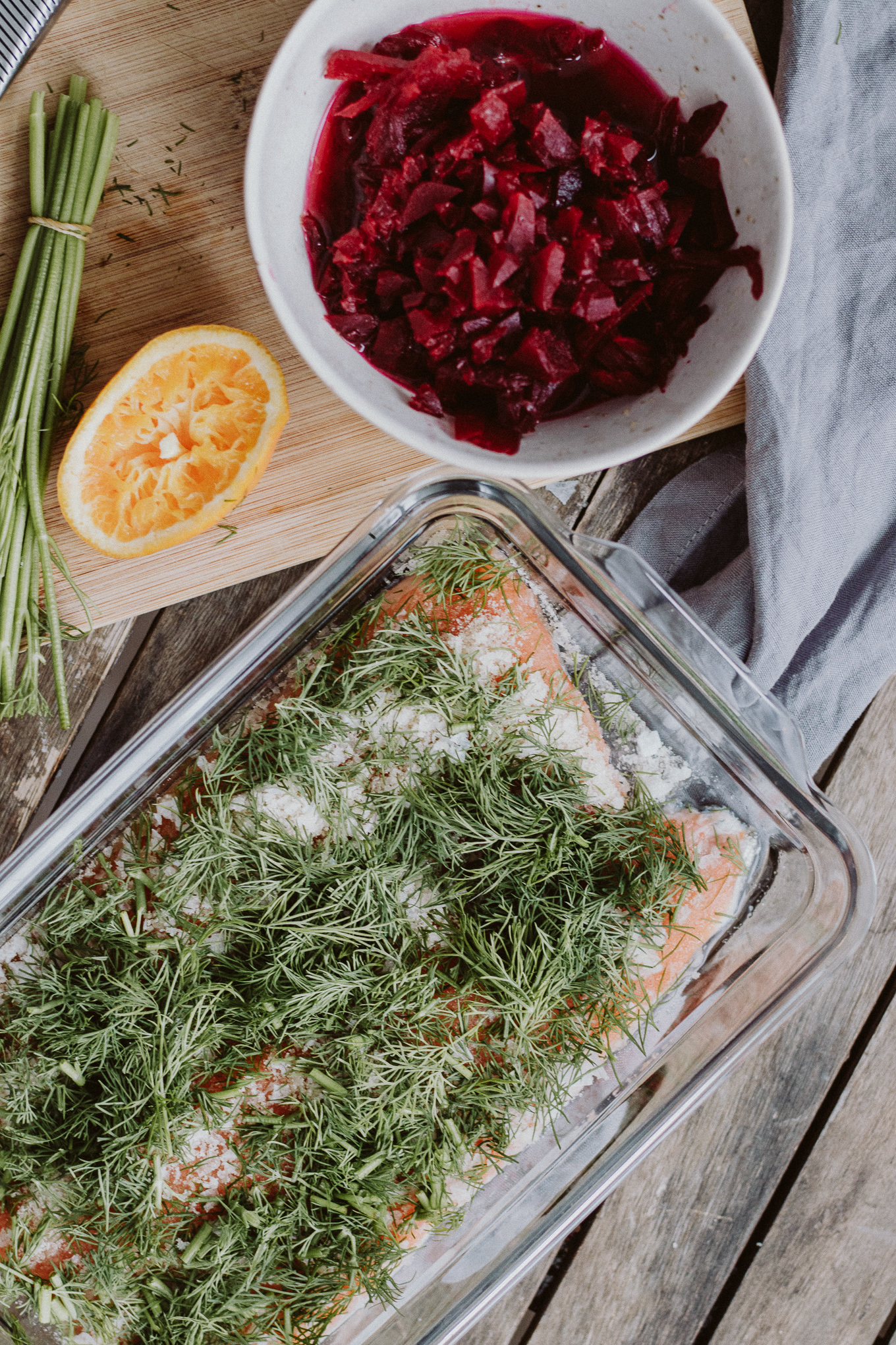 The Daily Dose Rezept gebeizte Lachsforelle mit roter Beete