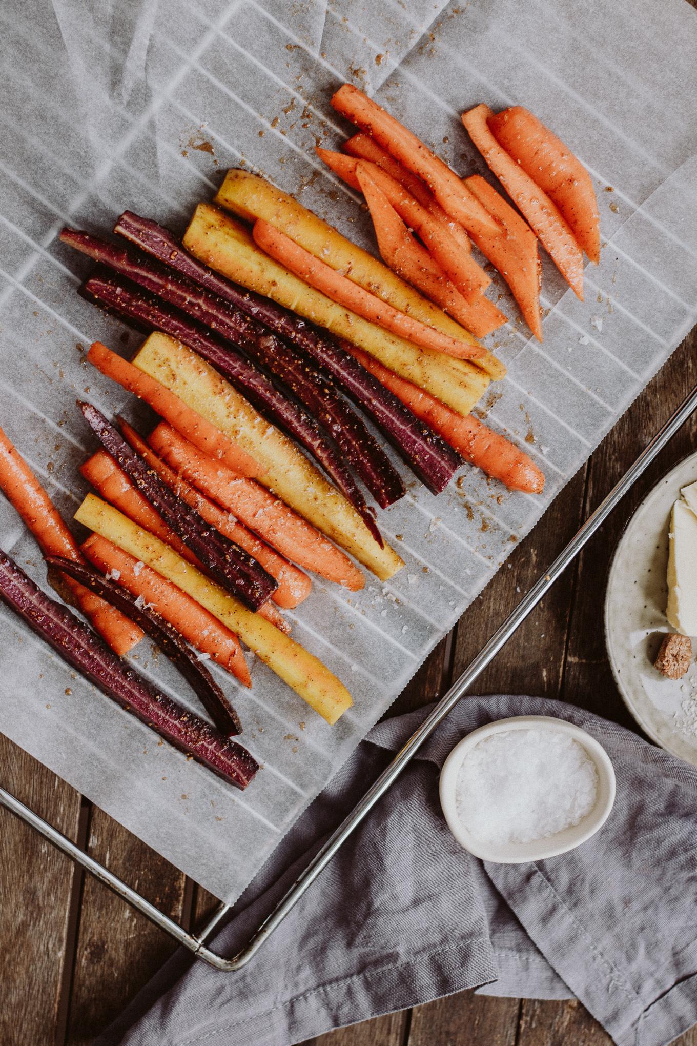 The Daily Dose Rezept lowcarb Karfiolpüree mit Ofenkarotten