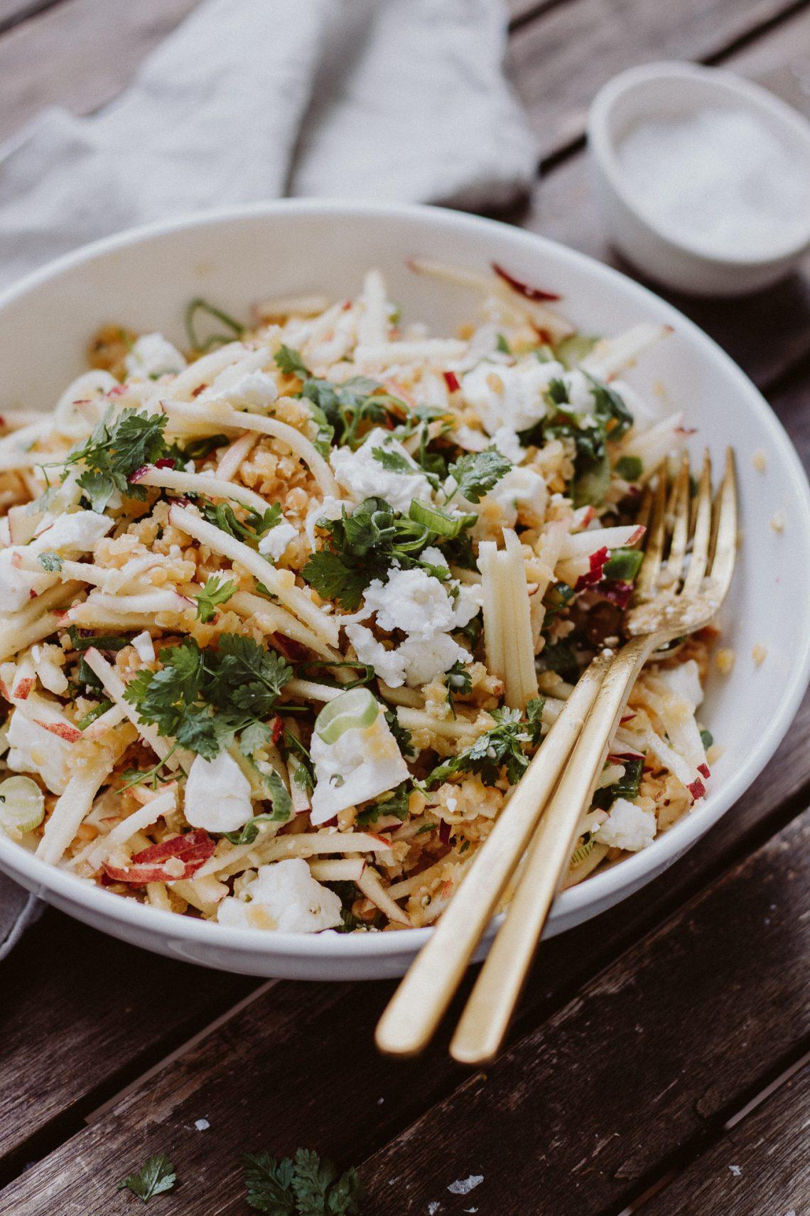 Rezept: Linsen-Apfel-Salat mit Fetakäse