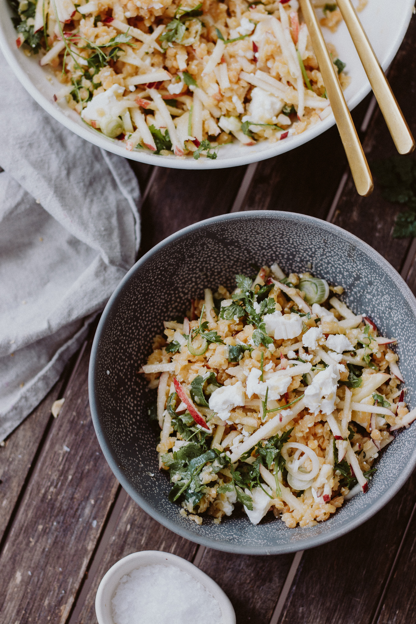 The Daily Dose gesundes Rezept Linsen-Apfel-Salat
