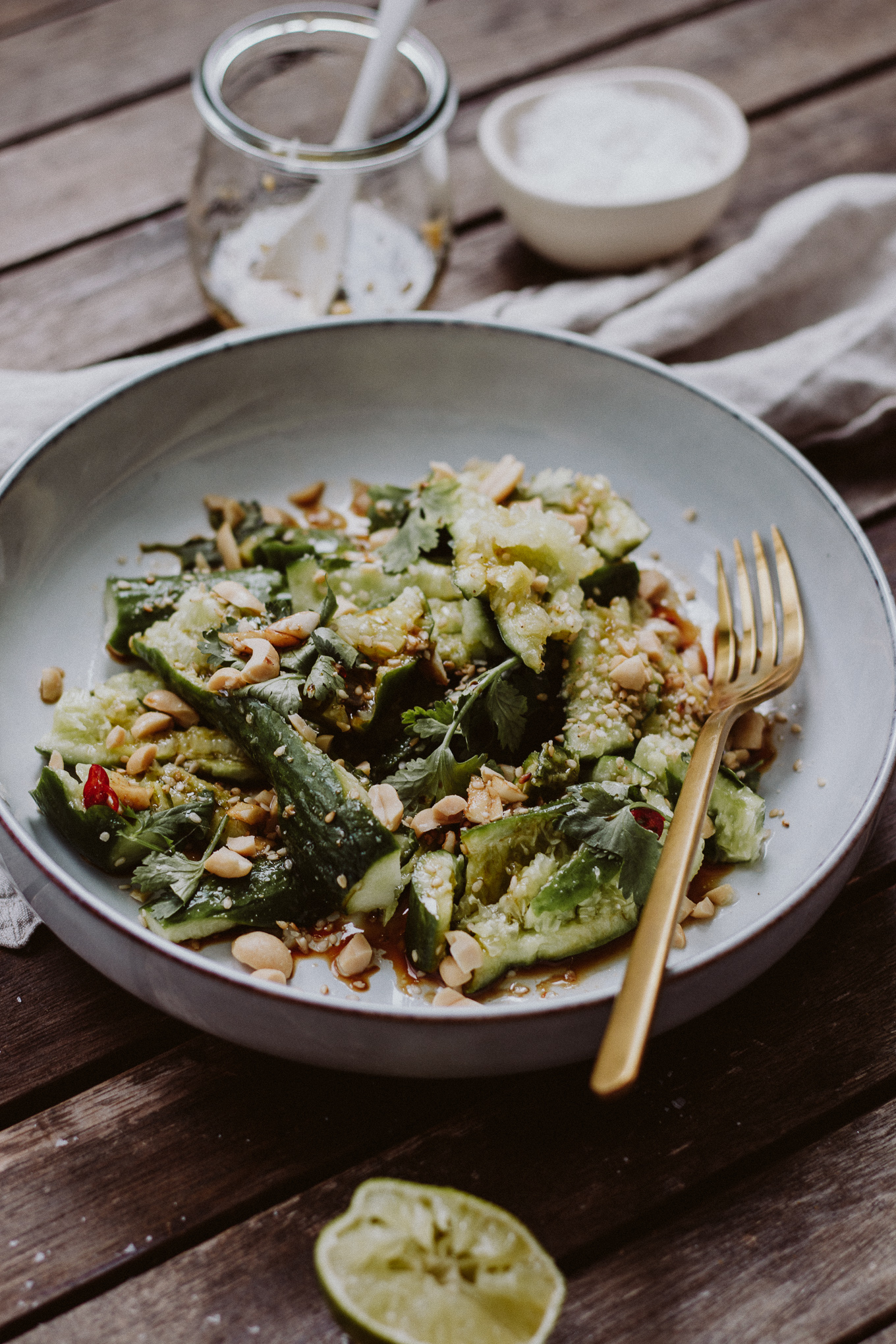 Rezept Smashed Cucumber Salad Thai Style The Daily Dose