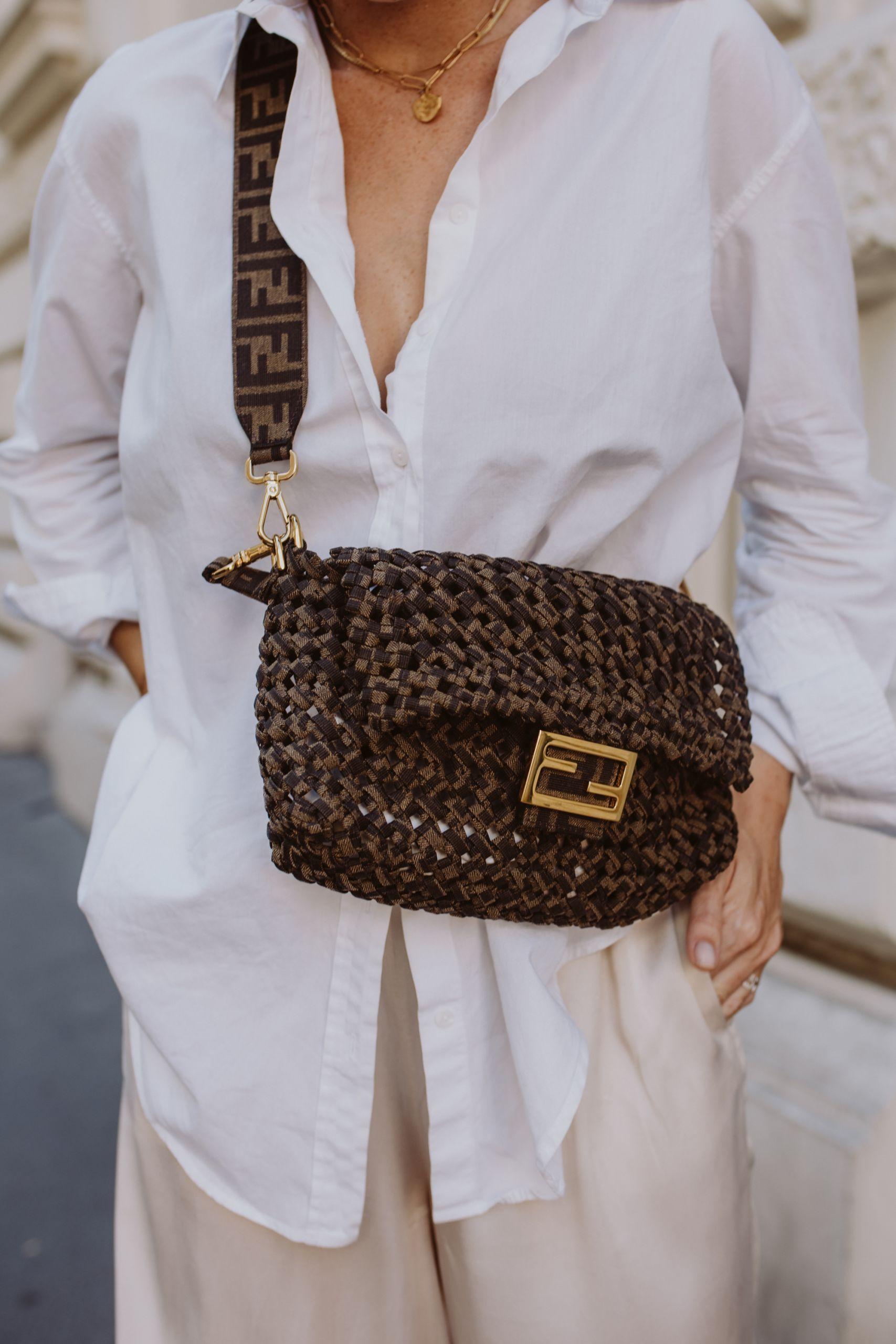 Jacquard fabric interlace bag