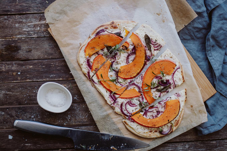 Rezept The Daily Dose Comfort Food Herbst Kürbis Flammkuchen