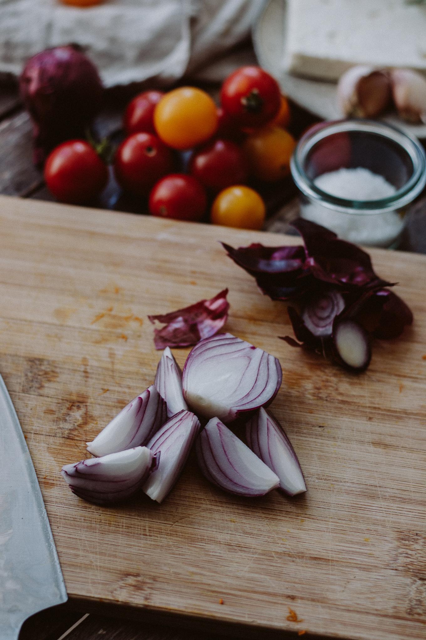 The Daily Dose Rezept Tomaten und Kürbis aus dem Ofen mit Fetakäse